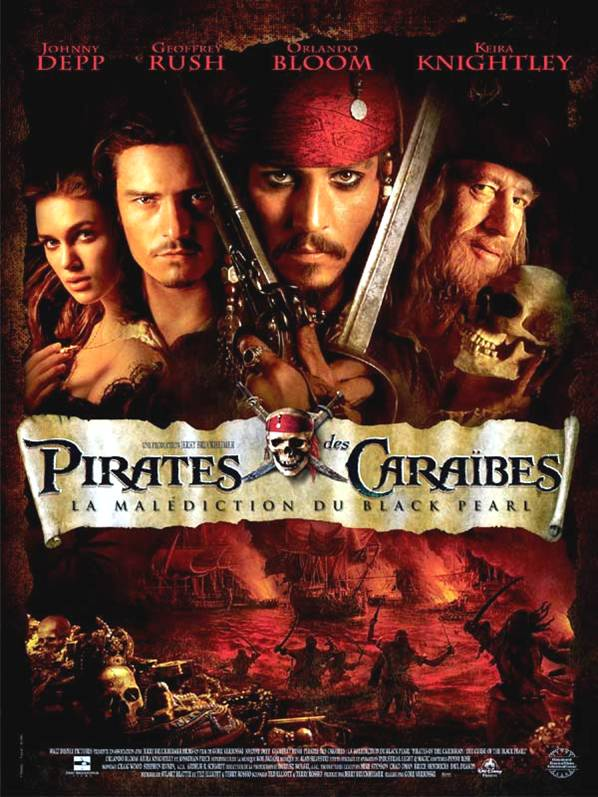Affiche Pirates des Caraïbes : la malédiction du Black Pearl