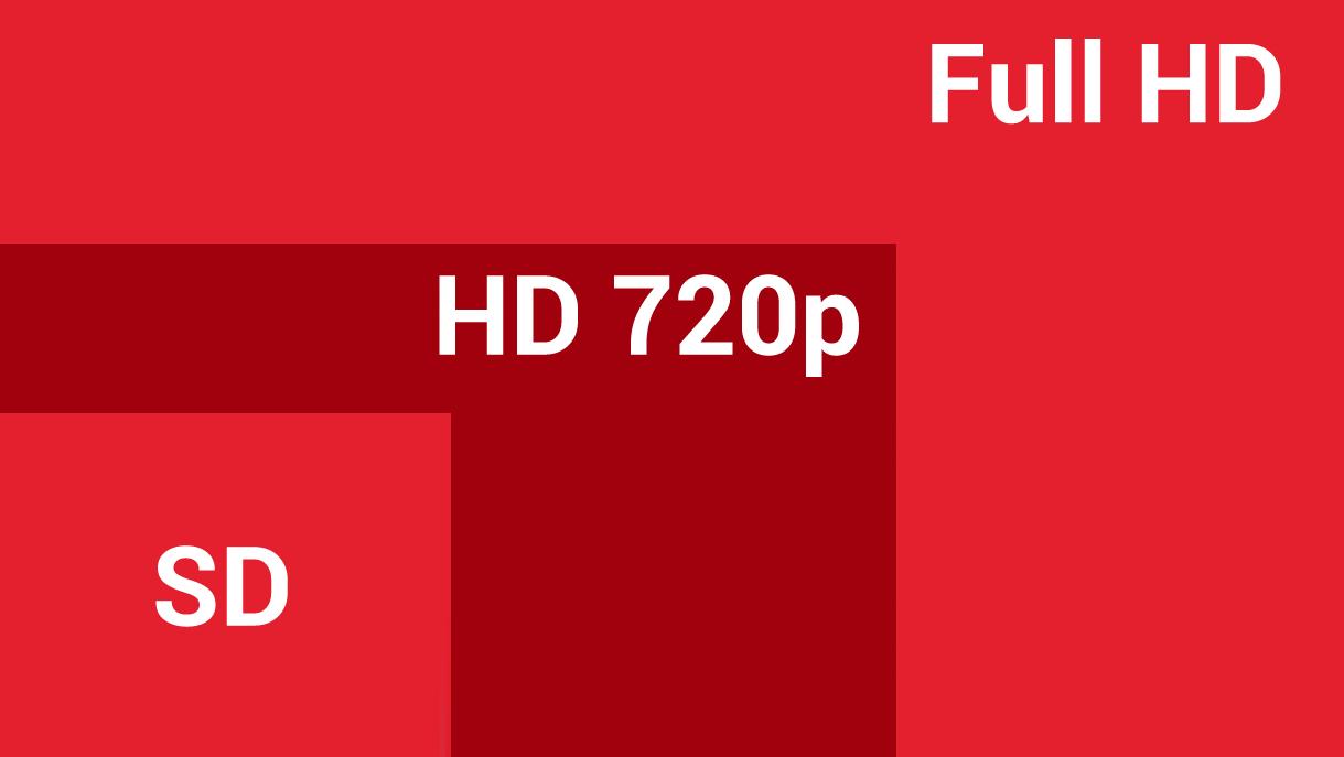 comprartif SD HD 720p FHD