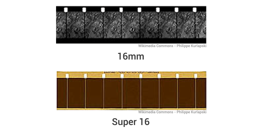 comparaison 16mm et Super 16mm