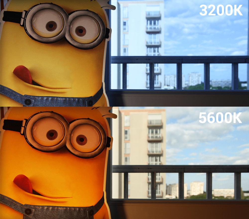 comparaison 5600K 3200K