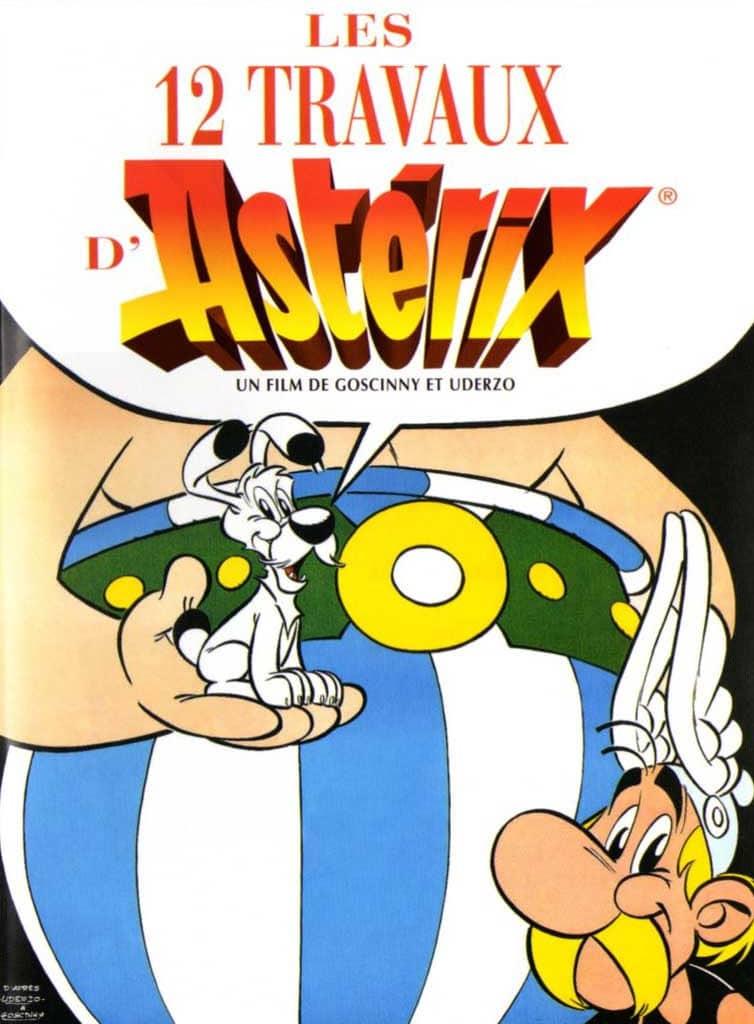 Affiche Les Douze Travaux d'Astérix