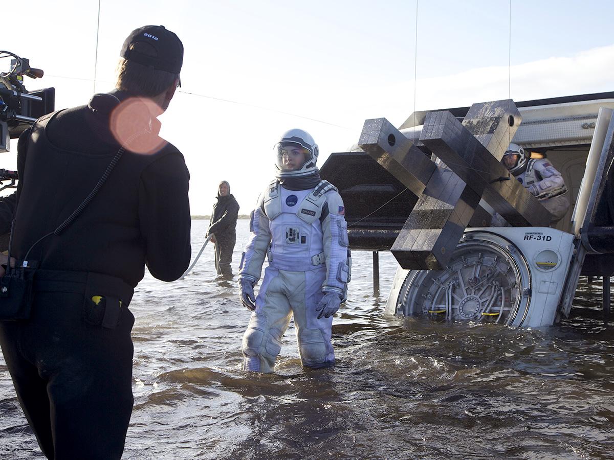 Anne Hathaway et Wes Bentley sur le tournage interstellar